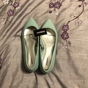 Express Light green flats.